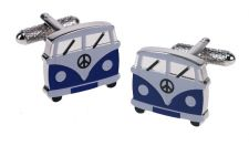 Campervan Blue Cufflinks