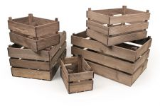 Vintage Style Wooden Apple Crate Storage Box - Extra Small