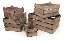 Vintage Style Wooden Apple Crate Storage Box - Large