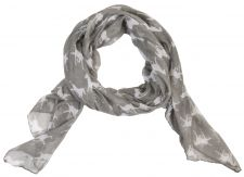 Ladies Grey & White Horse Scarf