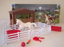 Competition Yard Toy Riding Academy Horse Play Set