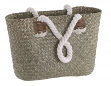 Woven Shopping Market Bag With Rope Handles