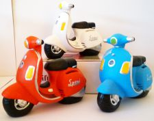 Scooter Motor Bike Money Bank - 3 Colours