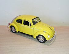 Volkswagen Yellow Beetle Classic Die Cast Model Car 1:38 Scale