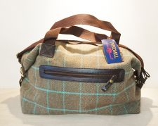 Tweedmill Green/Blue Weekender Bag - Tweed Overnight Bag