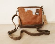 Cowhide Cow Hair Brown Shoulder Handbag - Carpe Diem