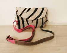 Zebra Animal Print 100% Real Leather Handbag - Carpe Diem
