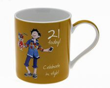 21st Birthday Mug - Male - 21 Today