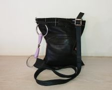 Snaffle Bit Black Leather Handbag - Joey D