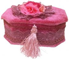 Velvet Rose Pink/Purple Jewellery Box