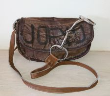 Snaffle Bit Brown Leather Half Moon Handbag - Joey D
