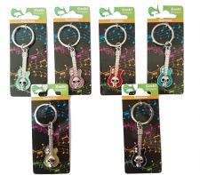 Guitar Metal Keyring - 6 Colours