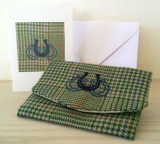 Humphrey the Horseshoes Handmade Tweed Coin Purse & Card