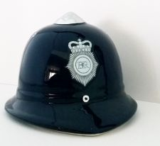 Policeman Helmet Blue Money Box