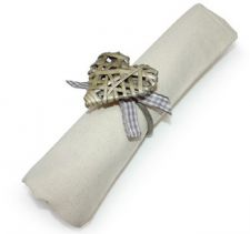 Set of 4 Grey Willow Heart Napkin Ring - Wedding Dinner Party