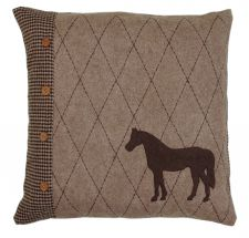 Horse Brown Tweed Cushion 50cm x 50cm