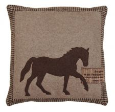 Horse Brown Tweed Cushion 40cm x 40cm