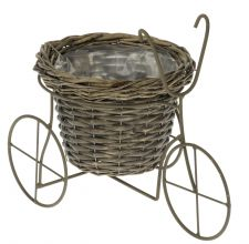 Tricycle Willow Basket Garden Planter - Table Centre