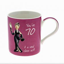 70th Birthday Mug - Female - You're 70