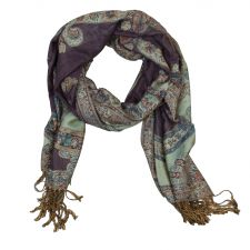 Ladies Reversible Purple Pashmina Scarf