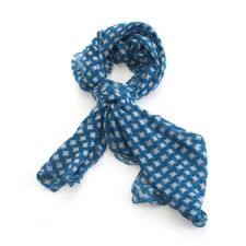 Ladies Blue & White Detail Scarf