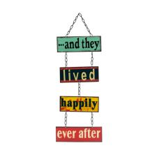 And They Lived Happily Ever After... Wedding Metal Sign
