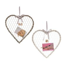 Willow Heart Picture Board with Pegs