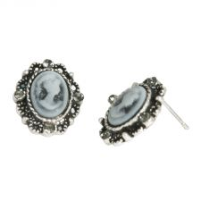 Antique Style Cameo Stud Earrings in Gift Box