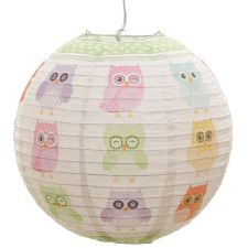 Bedroom Cute Dotty Owl Paper Lamp Shade - 13