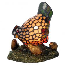 Tiffany Style Stained Glass Lamp - Chicken