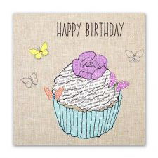 Female Happy Birthday Card - Cupcake
