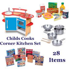 Melissa & Doug Wooden Kitchen Play Set with Accessories