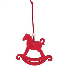 Red Rocking Horse Decoration