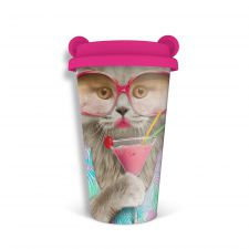 Coffee Crew Cat Travel Mug