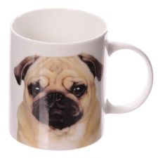 Pug Dog Bone China Boxed Mug