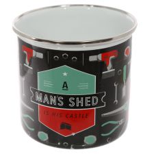 Man's Shed Enamel Mug - A Man's Shed is his Castle