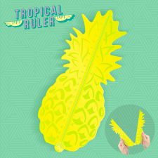 Pineapple Tropical Yellow Ruler