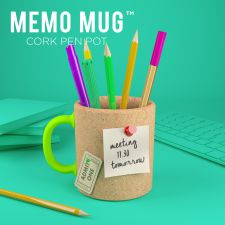 Memo Mug Cork Pen Stationary Pot