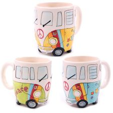 Campervan Psychedelic Novelty Mug - Boxed - 3 Colours