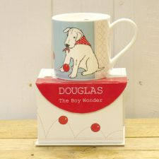 Douglas Blue Ball Mug - Douglas The Boy Wonder - The Little Dog