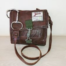 Snaffle Bit Brown Leather Messenger Bag - Joey D