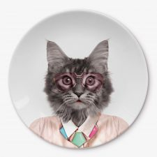 Wild Dining Party Animal Cat Plate