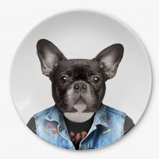 Wild Dining Party Animal Dog Plate