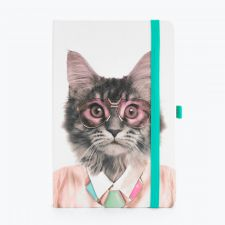 Cat Go Wild A5 Notebook & Pen Holder