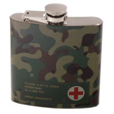 Hip Flask Camouflage Stainless Steel - 6oz