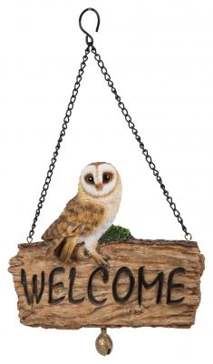 Barn Owl Welcome Sign - Hanging - Garden Friends