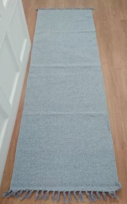Plain Runners Handloomed Natural Recycled Yarn Rug - 70cm x 200cm - 3 Colours