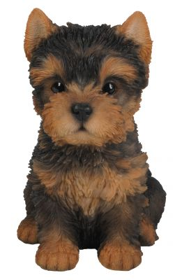 Yorkshire Terrier Puppy Dog - Lifelike Ornament Gift - Indoor or Outdoor - Pet Pals