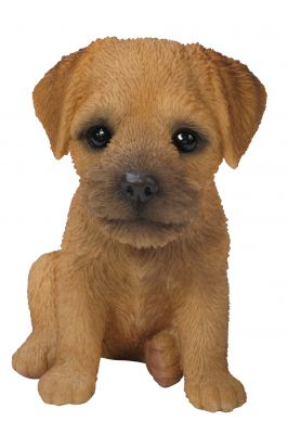 Border Terrier Puppy Dog - Lifelike Ornament Gift - Indoor or Outdoor - Pet Pals