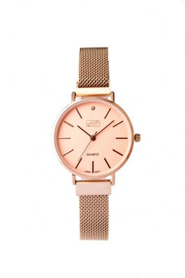 ETON Ladies Watch Metal Mesh Magnetic Strap Rose Gold - 3316L-RG